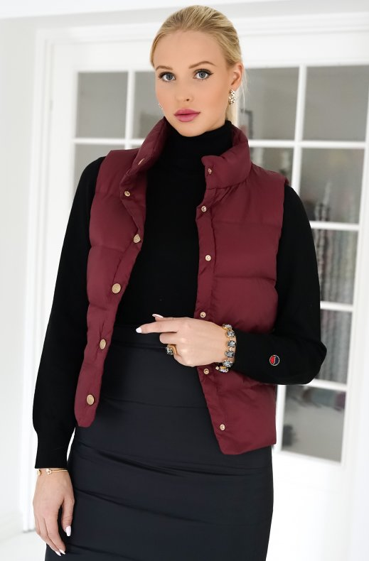 BUSNEL – AMY DOWN VEST BORDEAUX