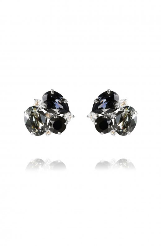 CAROLINE SVEDBOM - CAROLINA EARRING RHODIUM BLACK DIAMOND