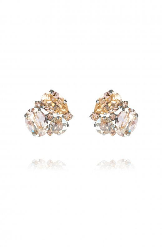 CAROLINE SVEDBOM - CAROLINA EARRING RHODIUM SILK