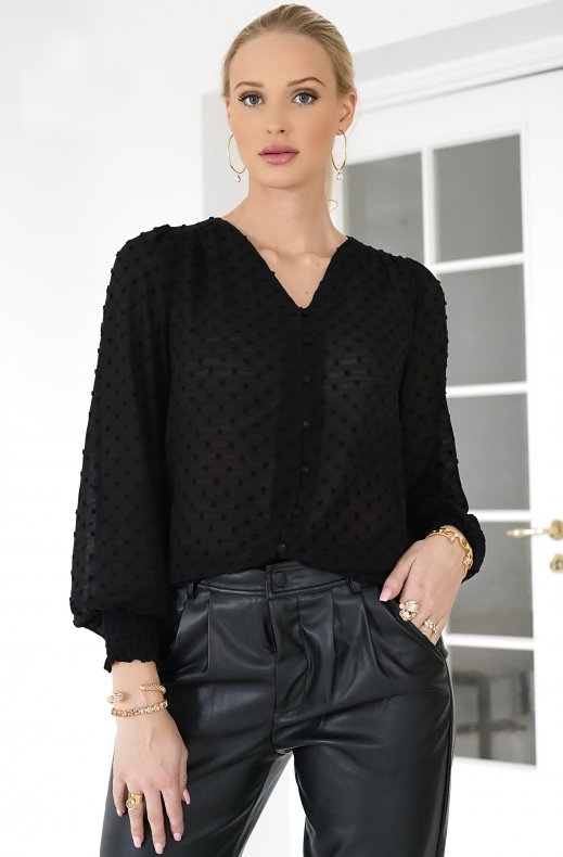 FREEQUENT – CLEO BLOUSE BLACK
