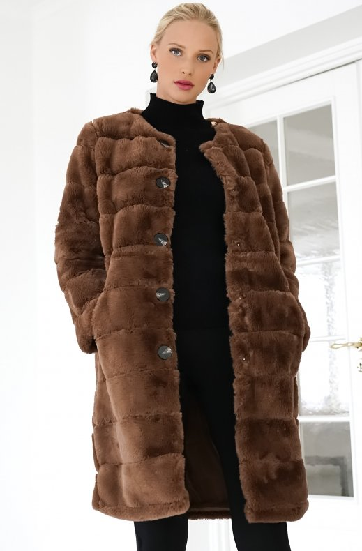 Freequent - Furby Jacket Brown