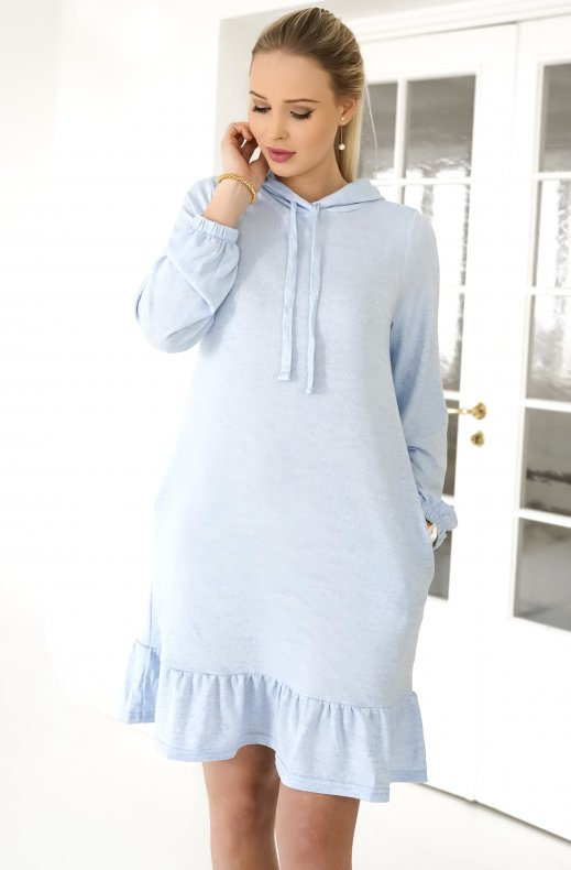 Freequent - Livana Dress Chambray Blue
