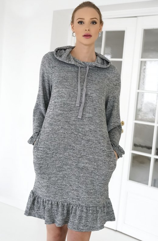 Freequent - Livana Dress Grey Melange