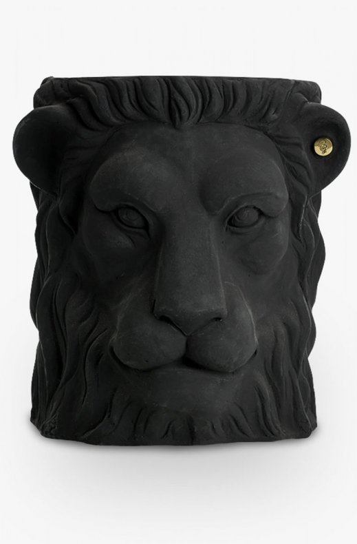 Garden Glory - Lion Pot Large Black