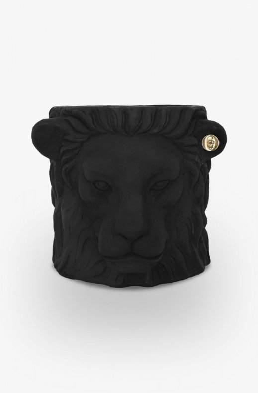 Garden Glory - Lion Pot Small Black