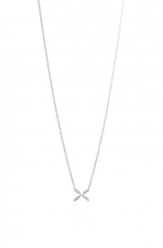 Gynning Jewelry - Sparkling Ellipse Mini Halsband Silver