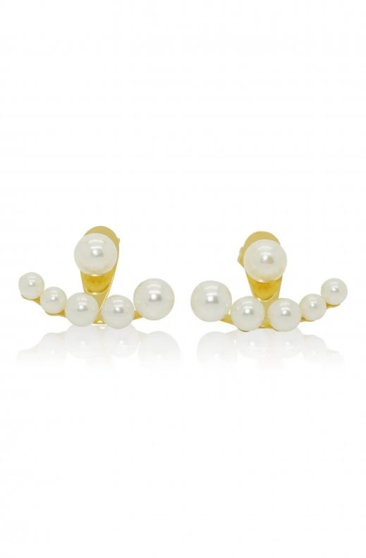 JANE AND SOPHIE – JACKET EARRING GOLD/PEARL