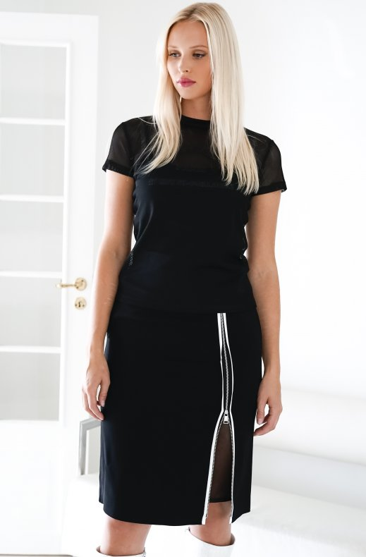 KARL LAGERFELD – CADY SKIRT WITH MESH 205W1200
