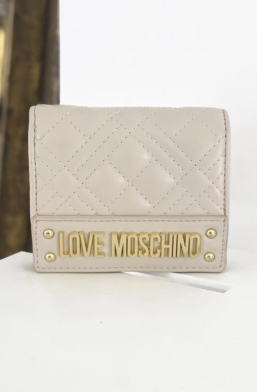 LOVE MOSCHINO - Quilted Wallet Beige