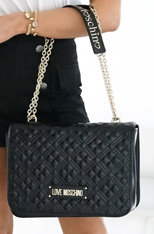 LOVE MOSCHINO - Handbag Quilted 33 x 25 cm Black