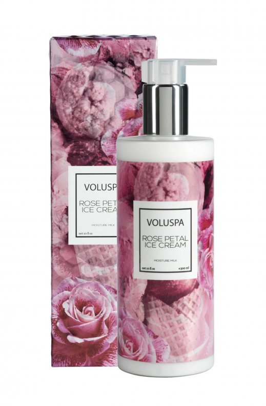 VOLUSPA - ROSE PETAL ICE CREAM HAND & BODY MILK 300 ML