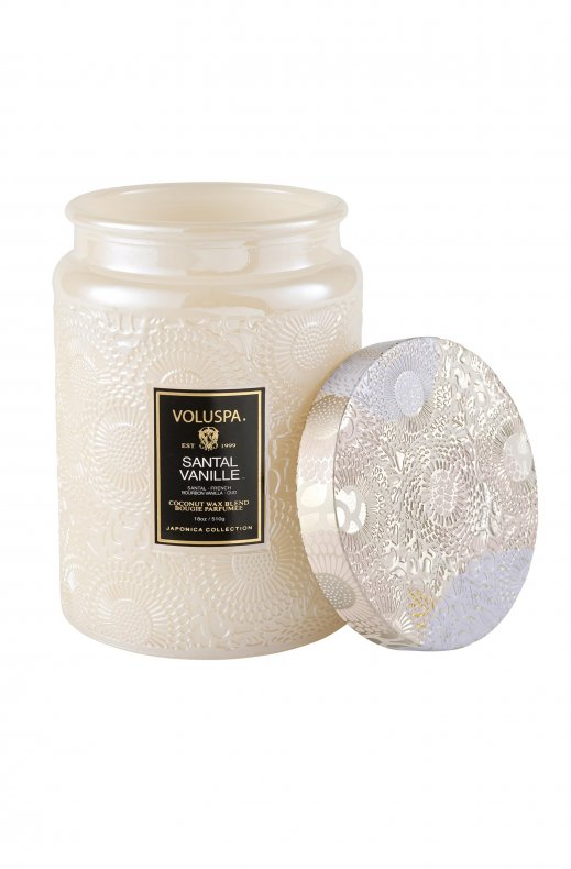 VOLUSPA - SANTAL VANILLE LARGE GLASS JAR